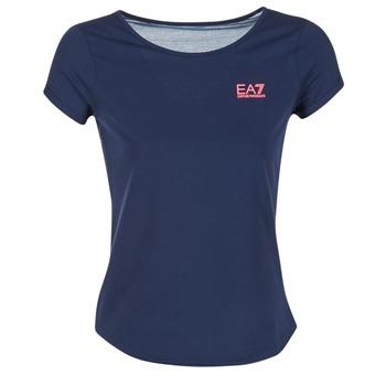 衣服 女士 女士上衣/罩衫 EA7 EMPORIO ARMANI TRAIN GRAPHIC 蓝色