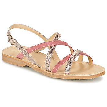 鞋子 女孩 凉鞋 Citrouille et Compagnie GENTOU 玫瑰色 / 银灰色