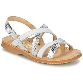 鞋子 女孩 凉鞋 Citrouille et Compagnie GENTOU 白色 / 银灰色