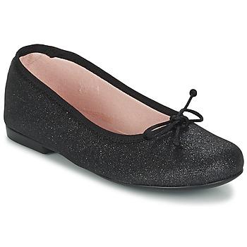 鞋子 女孩 平底鞋 Citrouille et Compagnie GLIGLO 黑色 / 浅黄色