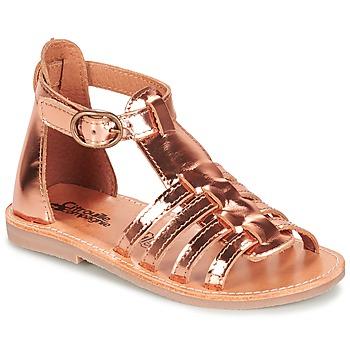 鞋子 女孩 凉鞋 Citrouille et Compagnie JASMA 铜色