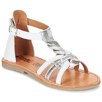 鞋子 女孩 涼鞋 Citrouille et Compagnie GITANOLO 白色 / 銀灰色