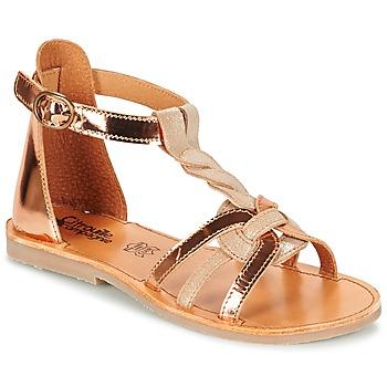 鞋子 女孩 凉鞋 Citrouille et Compagnie GITANOLO 米色 / 铜色