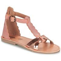鞋子 女孩 凉鞋 Citrouille et Compagnie GUBUDU 玫瑰色 / 金色