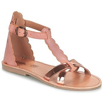 鞋子 女孩 涼鞋 Citrouille et Compagnie GUBUDU 玫瑰色 / 金色