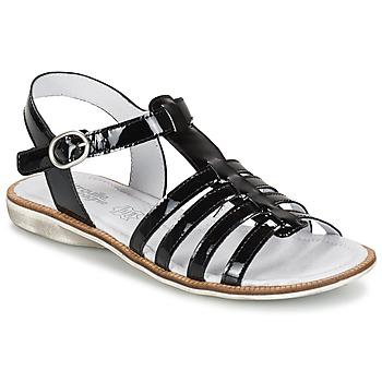 鞋子 女孩 凉鞋 Citrouille et Compagnie GROUFLA 黑色