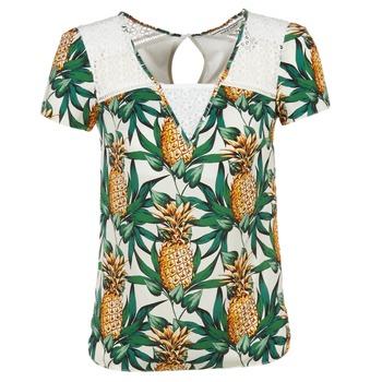 衣服 女士 女士上衣/罩衫 Naf Naf 娜芙娜芙 E-ANANAS 白色 / 绿色 / 黄色