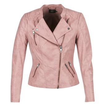 衣服 女士 皮夹克/ 人造皮革夹克 Only AVA 玫瑰色