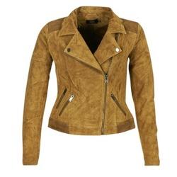 衣服 女士 皮夹克/ 人造皮革夹克 Only JOSEPHINE 棕色