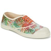 鞋子 女士 球鞋基本款 Bensimon TENNIS FEUILLES EXOTIQUES 浅米色 / 橙色 / 绿色