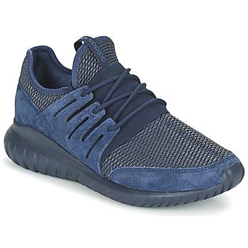 鞋子 球鞋基本款 阿迪达斯三叶草 TUBULAR RADIAL 海蓝色