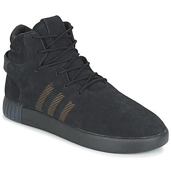 鞋子 男士 球鞋基本款 Adidas Originals 阿迪达斯三叶草 TUBULAR INVADER 黑色