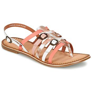 鞋子 女士 凉鞋 Kickers DIXMILLE 银灰色 / 玫瑰色 / 白色