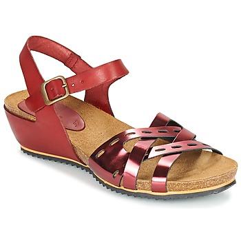 鞋子 女士 凉鞋 Kickers TOKANNE 红色 / 金属光泽