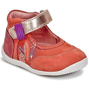 鞋子 女孩 平底鞋 Kickers BIMAMBO 橙色 / 紫红色 / 玫瑰色