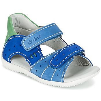 鞋子 男孩 凉鞋 Kickers BOPING 蓝色 / 绿色