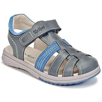 鞋子 男孩 凉鞋 Kickers PLATINIUM 蓝色 / Fonce / 蓝色