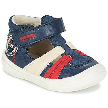 鞋子 男孩 凉鞋 Kickers ZOHAN 海蓝色 / 红色