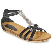 鞋子 女孩 凉鞋 Kickers BOMTARDES 银灰色 / 黑色