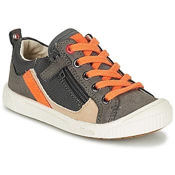 鞋子 男孩 球鞋基本款 Kickers ZIGZAGUER 灰色 / 橙色