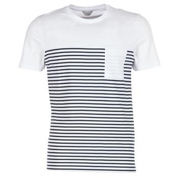 衣服 男士 短袖体恤 Jack & Jones 杰克琼斯 APRIL CORE 白色 / 海蓝色