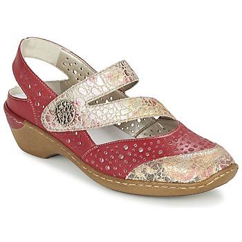鞋子 女士 凉鞋 Rieker 瑞克尔 KOLIPEDI 红色 / 金色