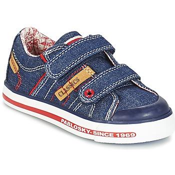 鞋子 男孩 球鞋基本款 Pablosky ERIVO 蓝色