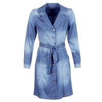 衣服 女士 风衣 Cream DENIM TRENCHCOAT 蓝色
