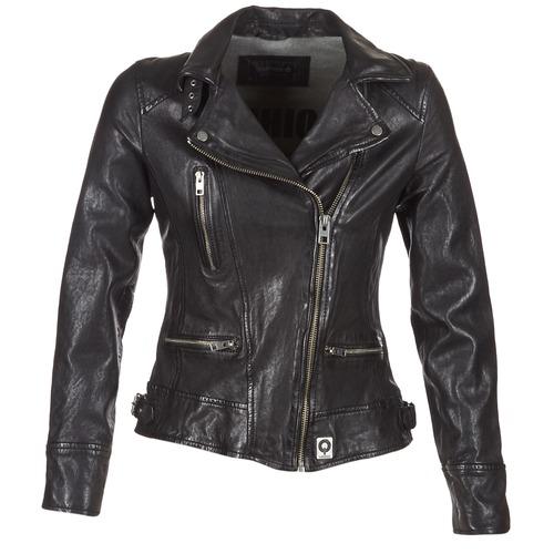 衣服 女士 皮夹克/ 人造皮革夹克 Oakwood VIDEO 黑色
