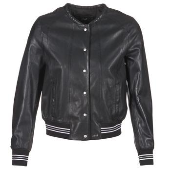 衣服 女士 皮夹克/ 人造皮革夹克 Oakwood 62298 黑色