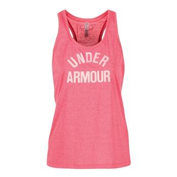 衣服 女士 无领短袖套衫/无袖T恤 Under Armour 安德玛 THREADBORNET TWIST GRAPHIC 玫瑰色