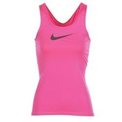 衣服 女士 无领短袖套衫/无袖T恤 Nike 耐克 NIKE PRO COOL TANK 玫瑰色