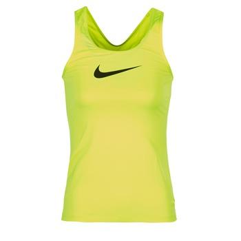 衣服 女士 无领短袖套衫/无袖T恤 Nike 耐克 NIKE PRO COOL TANK 黄色