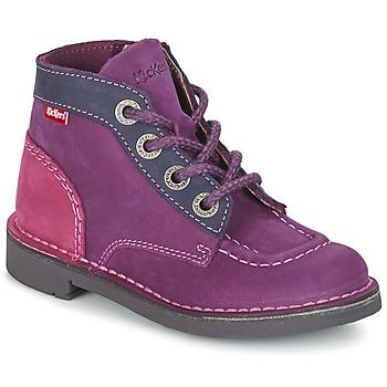 鞋子 女孩 短筒靴 Kickers KICK COLZ 紫罗兰 / 海蓝色 / 玫瑰色
