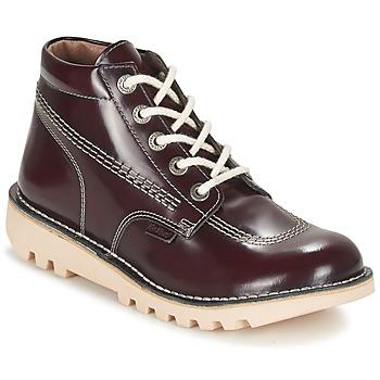 鞋子 女士 短筒靴 Kickers NEORALLYE 波尔多红