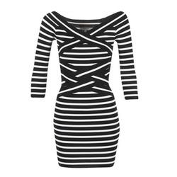 衣服 女士 短裙 Morgan RBEST 黑色 / 浅米色