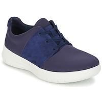 鞋子 女士 球鞋基本款 FitFlop SPORTYPOP X SNEAKER 海藍色