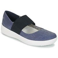 鞋子 女士 平底鞋 FitFlop FSPORTY MARY JANE CANVAS Midnight / 海军蓝