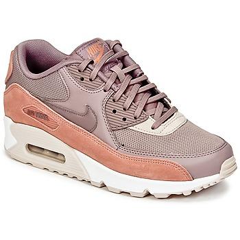 鞋子 女士 球鞋基本款 Nike 耐克 AIR MAX 90 W 灰褐色 / 玫瑰色