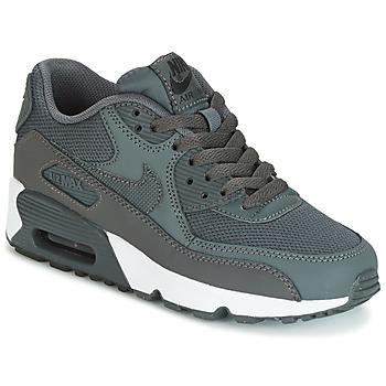 鞋子 男孩 球鞋基本款 Nike 耐克 AIR MAX 90 MESH GRADE SCHOOL 灰色