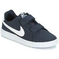 鞋子 兒童 球鞋基本款 Nike 耐克 COURT ROYALE PRESCHOOL 藍色 / 白色