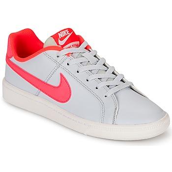 鞋子 女孩 球鞋基本款 Nike 耐克 COURT ROYALE GRADE SCHOOL 灰色 / 玫瑰色