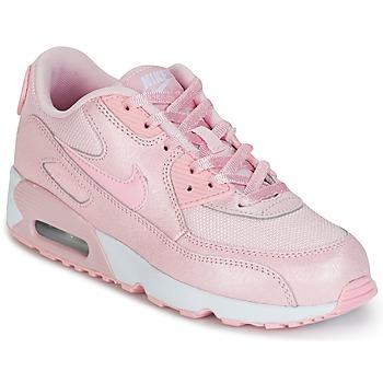 鞋子 女孩 球鞋基本款 Nike 耐克 AIR MAX 90 MESH SE PRESCHOOL 玫瑰色