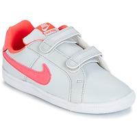 鞋子 女孩 球鞋基本款 Nike 耐克 COURT ROYALE TODDLER 灰色 / 玫瑰色