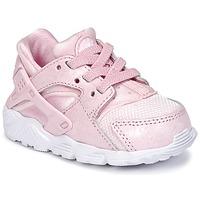 鞋子 女孩 球鞋基本款 Nike 耐克 HUARACHE RUN SE TODDLER 玫瑰色
