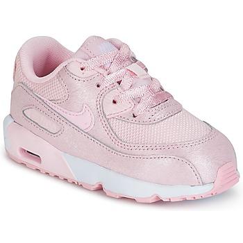 鞋子 女孩 球鞋基本款 Nike 耐克 AIR MAX 90 MESH SE TODDLER 玫瑰色