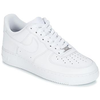 鞋子 男士 球鞋基本款 Nike 耐克 AIR FORCE 1 07 白色