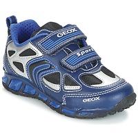 鞋子 男孩 球鞋基本款 Geox 健乐士 J SHUTTLE B. A 海蓝色 / 蓝色