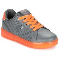 鞋子 男孩 球鞋基本款 Geox 健乐士 J KOMMODOR B.B 灰色 / 橙色
