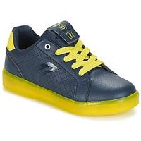 鞋子 男孩 球鞋基本款 Geox 健乐士 J KOMMODOR B.B 海蓝色 / 黄色